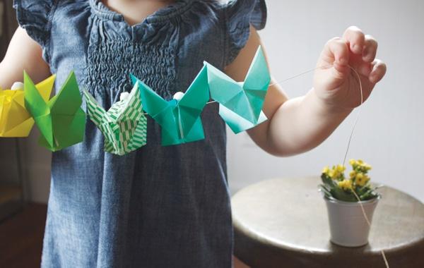 guirnalda de conejitos origami