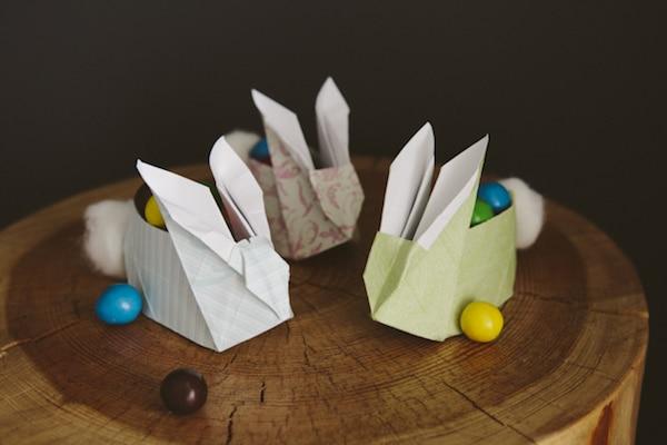 cestas para huevos en forma de conejo