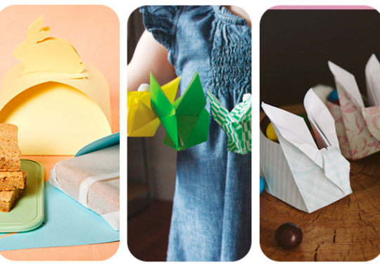 conejitos origami para Pascua
