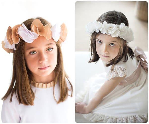 Peinados comunion nina con corona