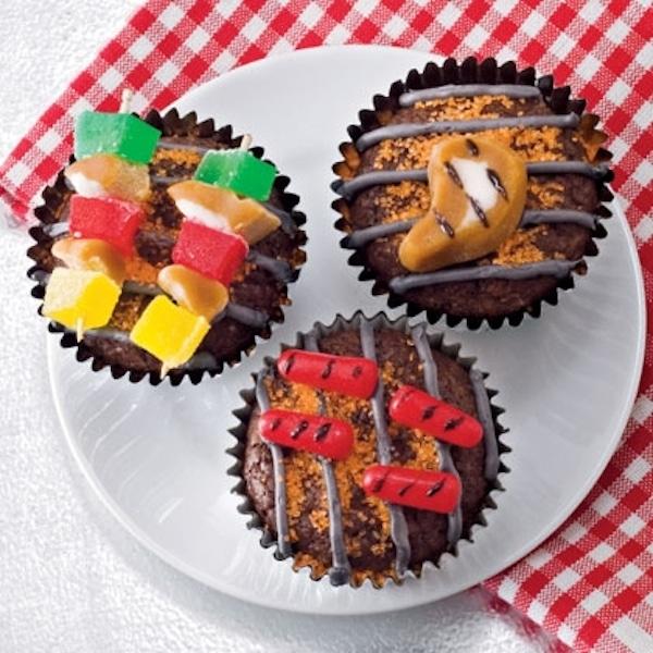 cupcakes de barbacoa para el día del padre
