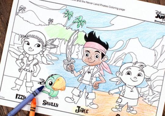 12 dibujos para colorear de Disney ¡gratis!