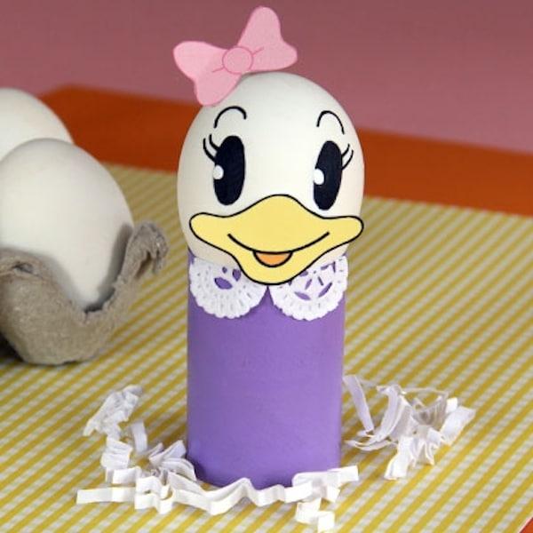 Huevos decorados para Pascua con Daisy