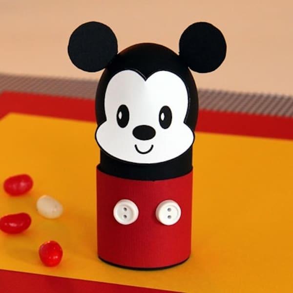 huevos de Pascua decorado con Mickey