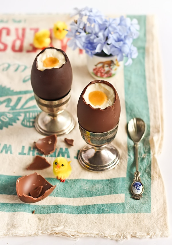 huevos de chocolate con cheesecake
