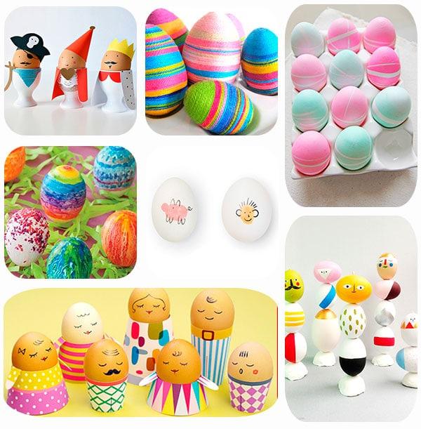 7 ideas para decorar huevos de pascua pequeocio - Huevos decorados de pascua ...