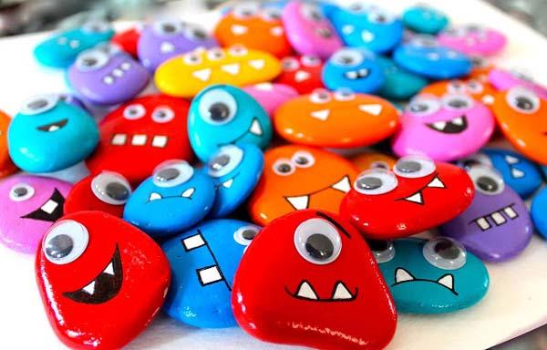 piedras pintadas para hacer con niños