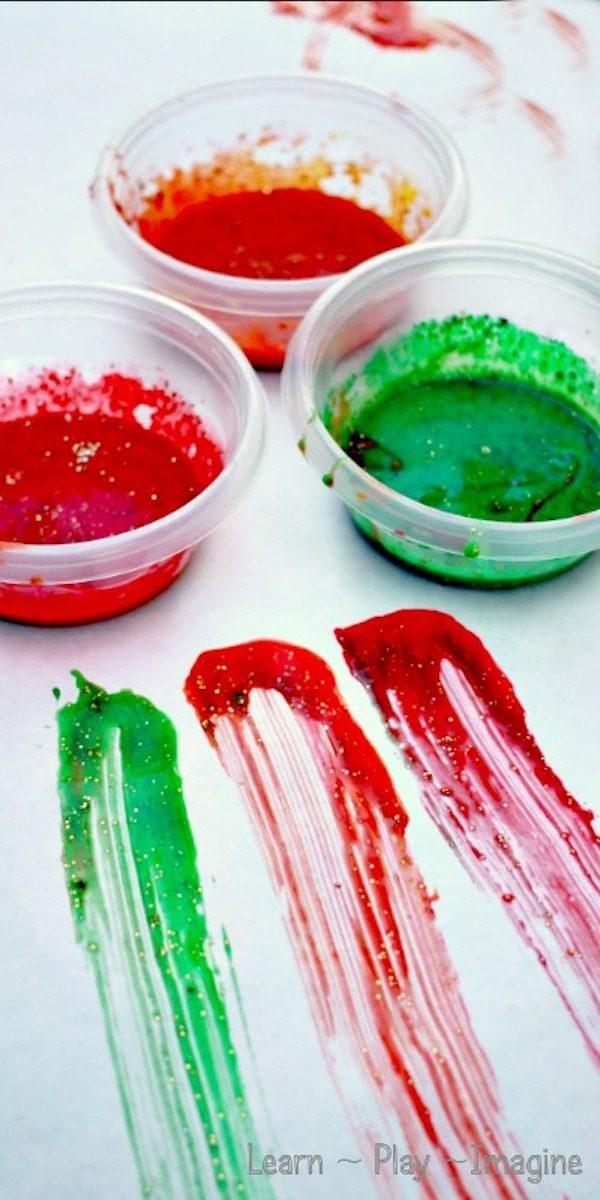 pintura para dedos casera y comestible