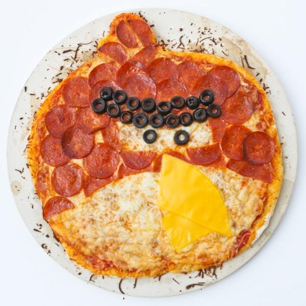 Pizza de salami Angry Bird
