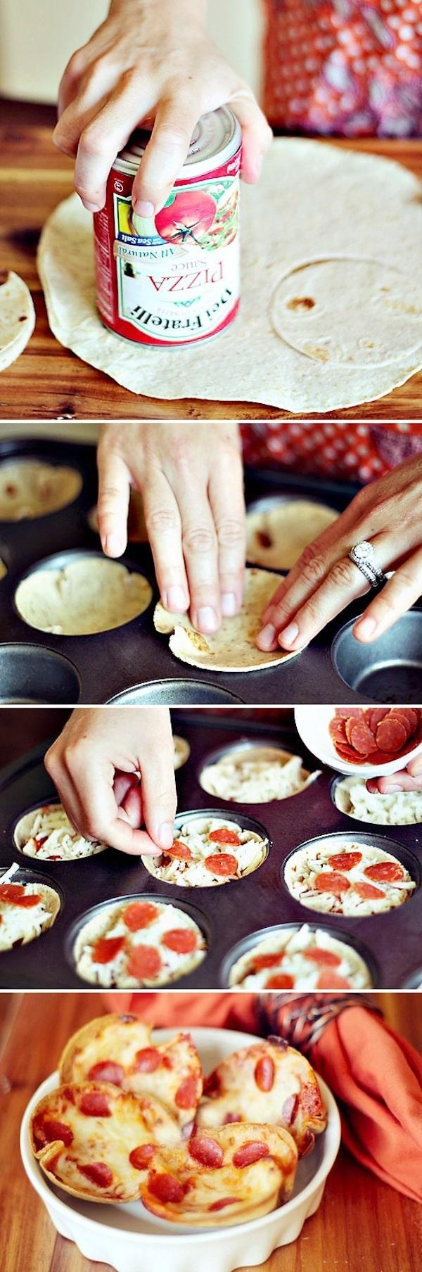 pizzas con pan árabe