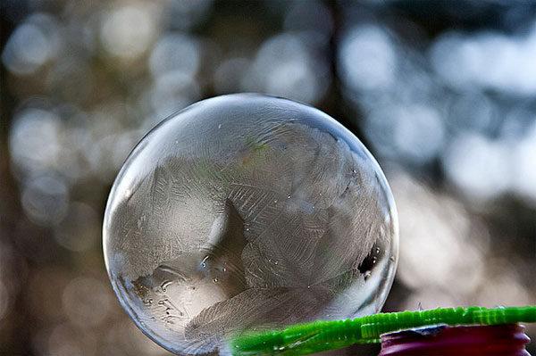 Experimento infantil: ¡pompas de hielo!