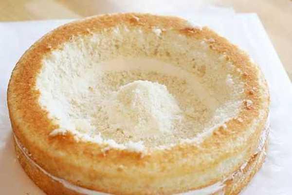 receta de tarta con corazón en el centro
