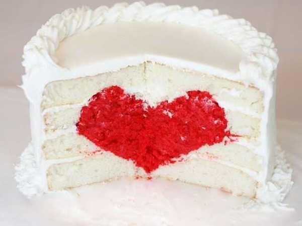 tarta fácil con corazón sorpresa