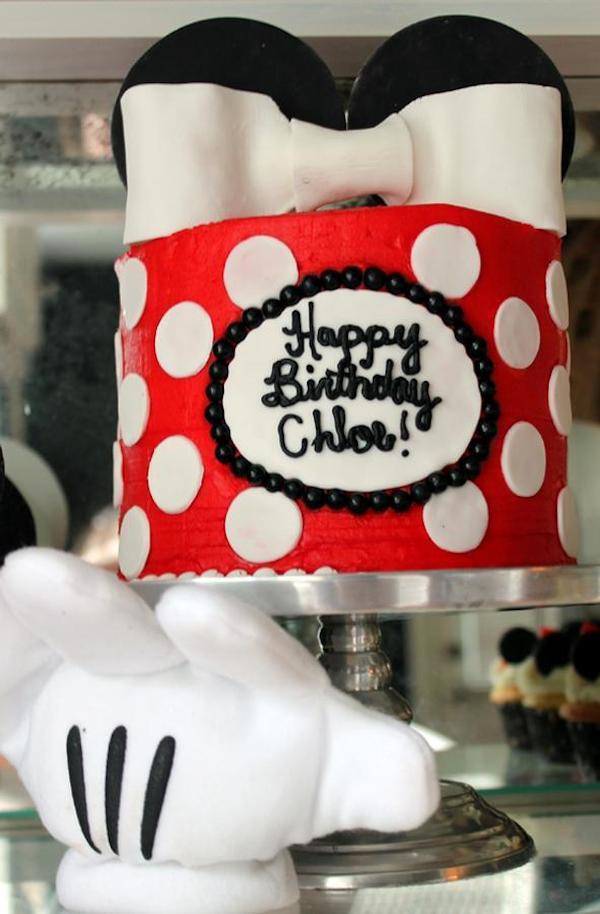 tarta de cumpleaños de Minnie Mouse