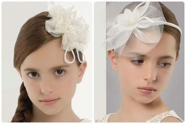 Peinados para primera comunion con diadema