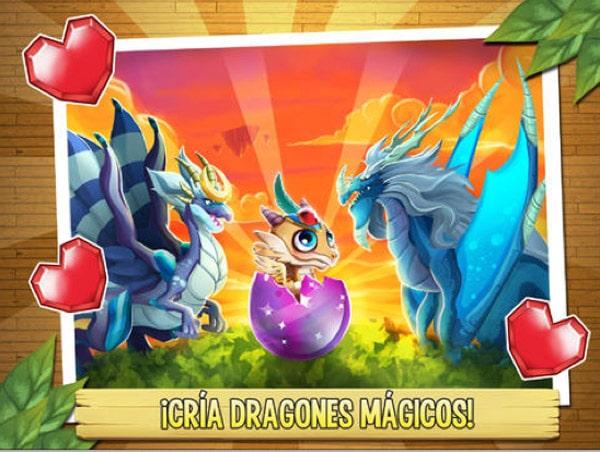 dragón fuego y entre un dragón eléctrico y uno oscuro