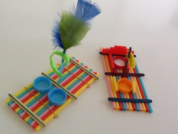 6 manualidades infantiles con pajitas pequeocio - C0m0 hacer manualidades ...