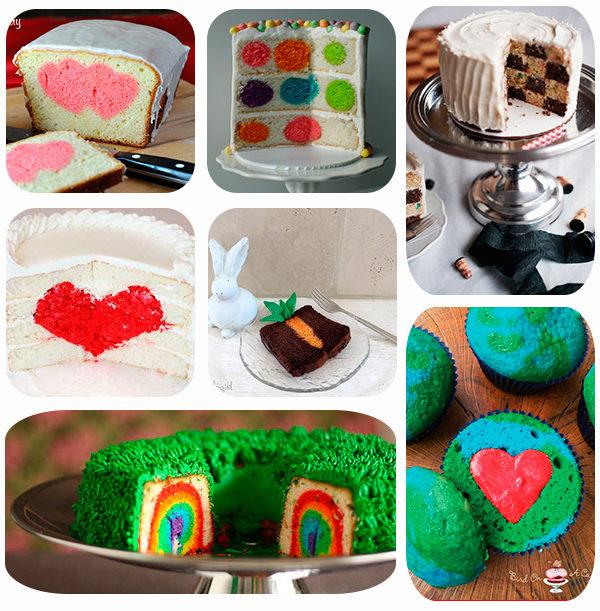 tartas y bizcochos con sorpresa