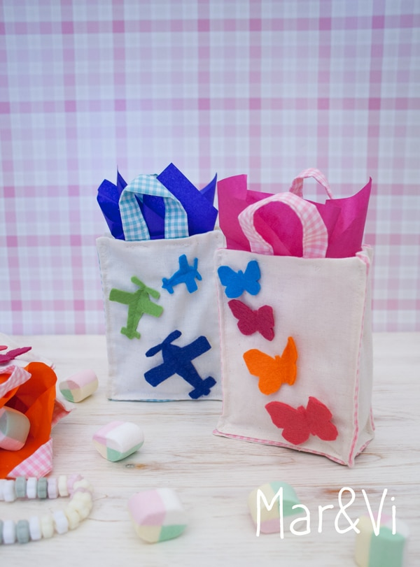 Fiestas infantiles bolsitas de tela para chuches pequeocio - Como hacer una fiesta de cumpleanos ...