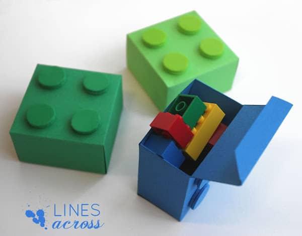 plantilla para hacer cajas de lego