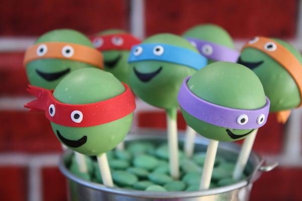 cake pop de las tortugas ninjas