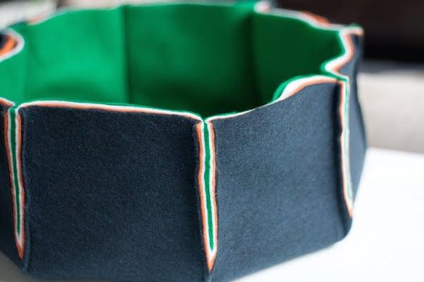 cómo hacer un cesto de fieltro