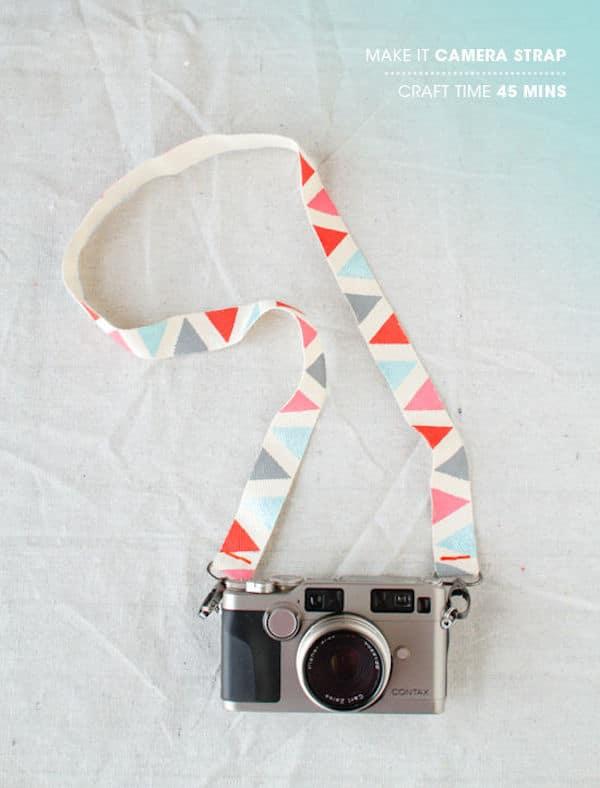 correa para la cámara de fotos casera