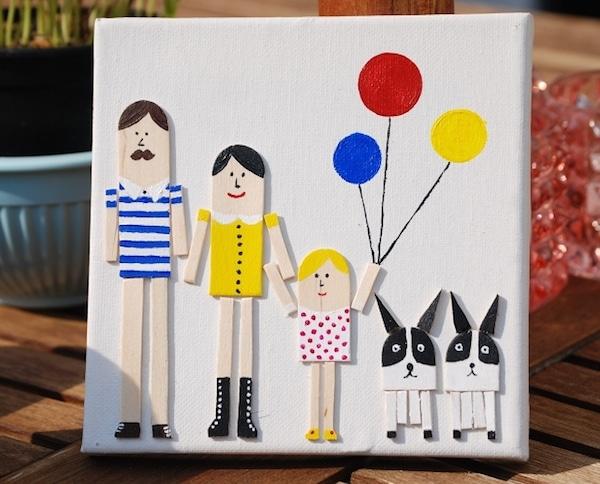 6 manualidades infantiles con palitos de helado pequeocio - Manualidades faciles cuadros ...