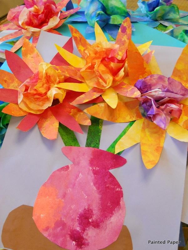 flores con papel pintado
