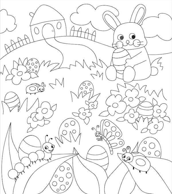 Dibujos de Pascua para colorear y jugar | Pequeocio.com