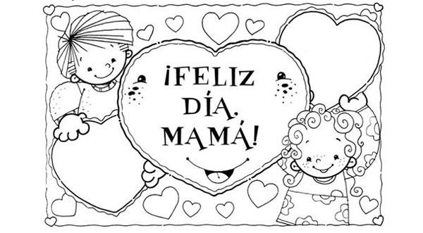 6 dibujos para colorear regalo del Da de la Madre  Pequeocio