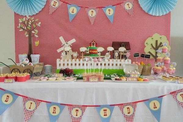 cumpleaños infantil de la granja
