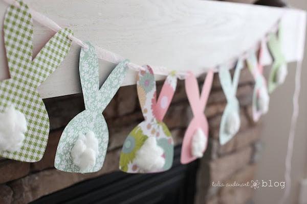 guirnalda de conejitos para Pascua