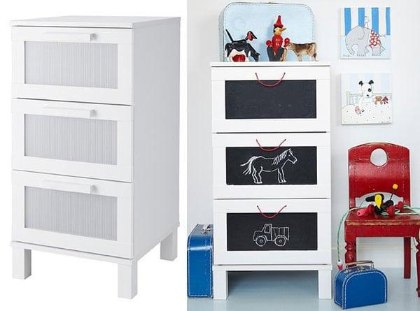7 ideas para personalizar los muebles de ikea pequeocio for Como tunear muebles de ikea