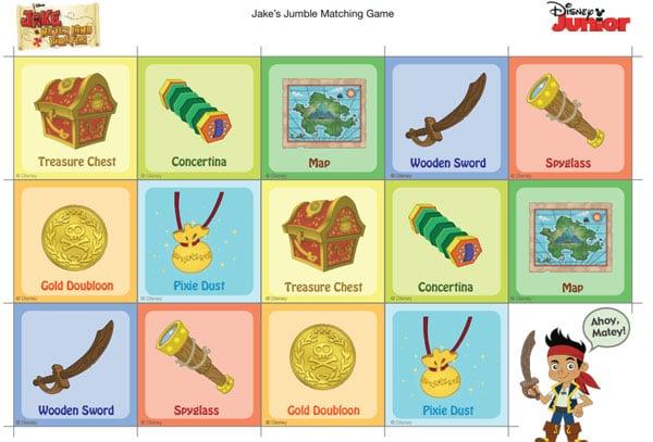 2 juegos de memoria de Jake Pirata