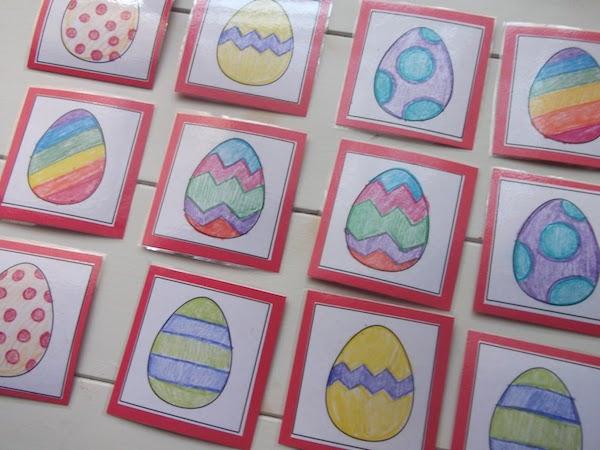 juego de memoria para Pascua