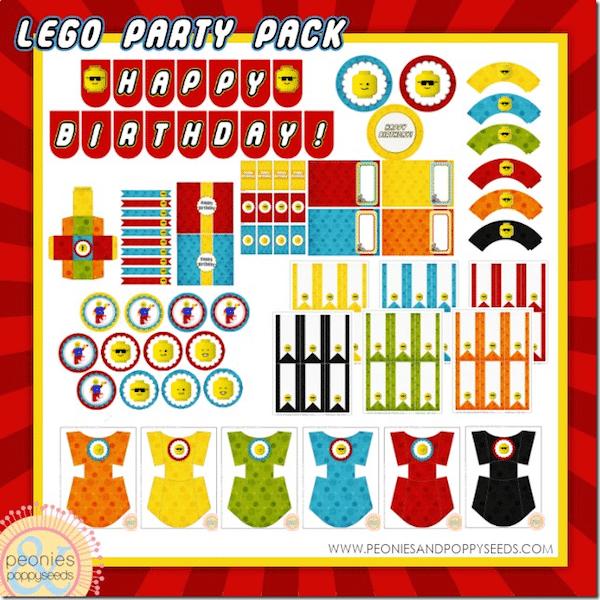 descargables de lego para fiestas