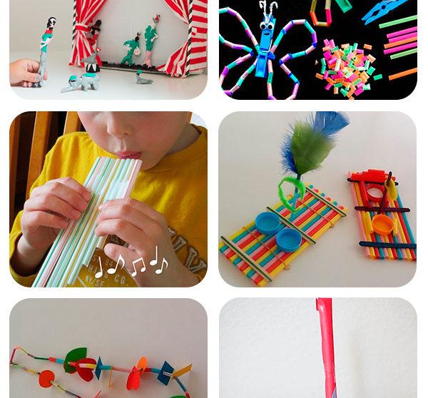 6 manualidades infantiles con pajitas - Como hacer una mampara ...