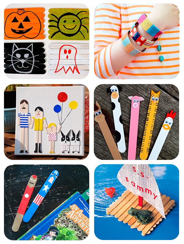6 manualidades infantiles con palitos de helado share - Manualidades pequeocio ...