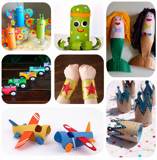 7 manualidades infantiles con rollos de papel On hacer cosas con rollos de papel higienico