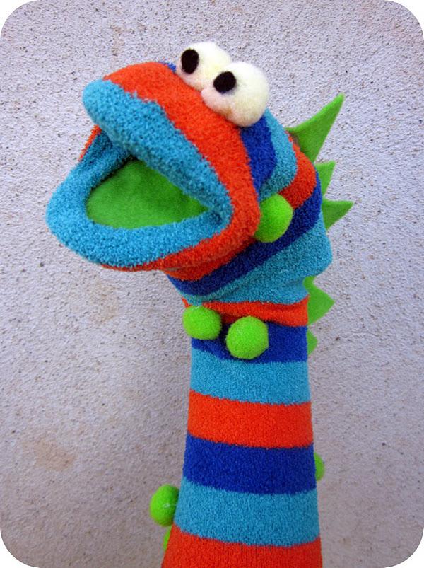marionetas de calcetín caseras