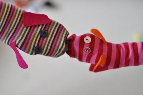 títeres fáciles con calcetines