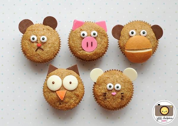 muffins decorados para niños