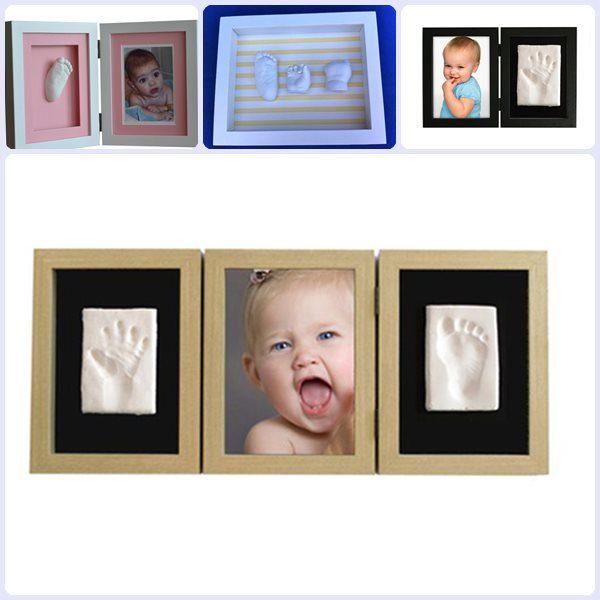 Regalos para bautizos: marcos con huellas del bebé - Pequeocio