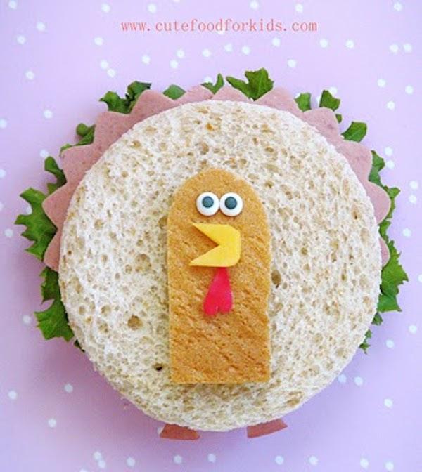 sandwich divertido para niños