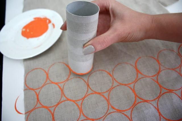 sellos caseros con rollos de papel