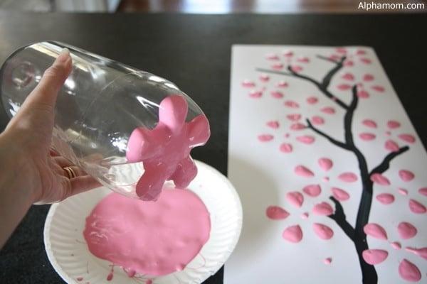 cómo hacer un sello de flores