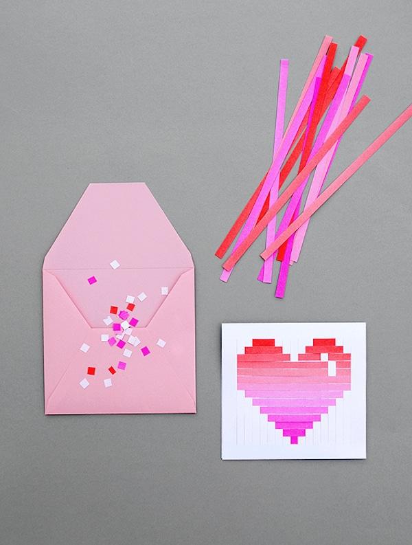 tarjeta del día de la madre con corazones