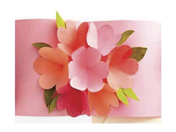 4 tarjetas con flores para el Da de la Madre  Pequeocio