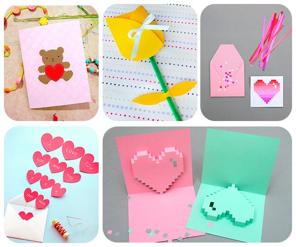 5 tarjetas del d a de la madre muy f ciles pequeocio - Manualidades muy faciles ...